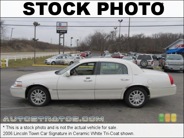 Stock photo for this 2006 Lincoln Town Car Signature 4.6 Liter SOHC 16-Valve V8 4 Speed Automatic
