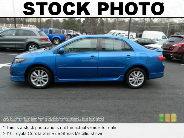 Stock photo for this 2010 Toyota Corolla S 1.8 Liter DOHC 16-Valve Dual VVT-i 4 Cylinder 4 Speed Automatic
