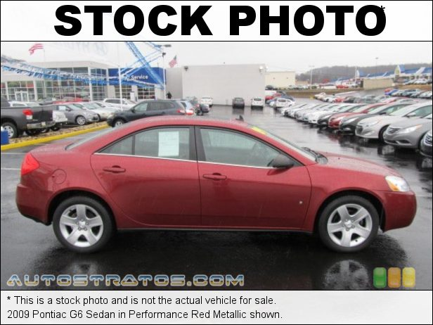 Stock photo for this 2009 Pontiac G6 Sedan 2.4 Liter DOHC 16-Valve VVT 4 Cylinder 4 Speed Automatic