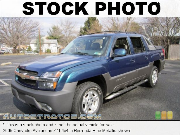 Stock photo for this 2005 Chevrolet Avalanche LS 4x4 5.3 Liter OHV 16-Valve Vortec V8 4 Speed Automatic