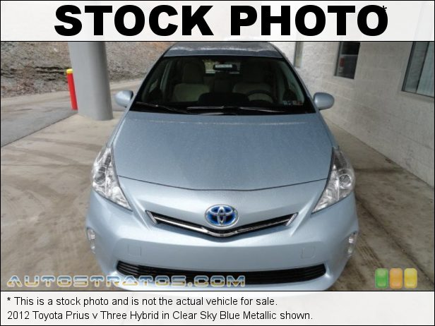 Stock photo for this 2012 Toyota Prius v Three Hybrid 1.8 Liter DOHC 16-Valve VVT-i 4 Cylinder Gasoline/Electric Hybri ECVT Automatic
