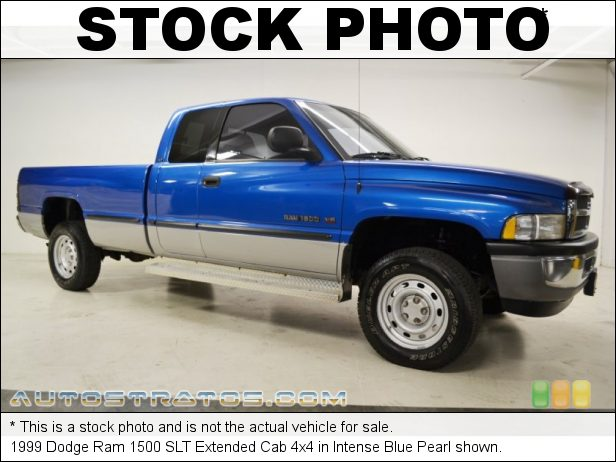 Stock photo for this 1999 Dodge Ram 1500 Extended Cab 4x4 5.9 Liter OHV 16-Valve V8 4 Speed Automatic