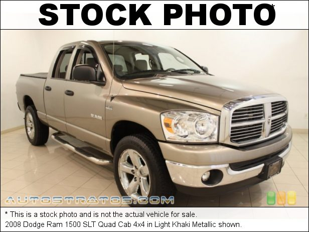 Stock photo for this 2008 Dodge Ram 1500 SLT Quad Cab 4x4 5.7 Liter MDS HEMI OHV 16-Valve V8 5 Speed Automatic