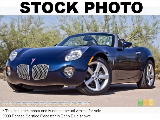 Stock photo for this 2008 Pontiac Solstice Roadster 2.4L DOHC 16V VVT ECOTEC 4 Cylinder 5 Speed Automatic