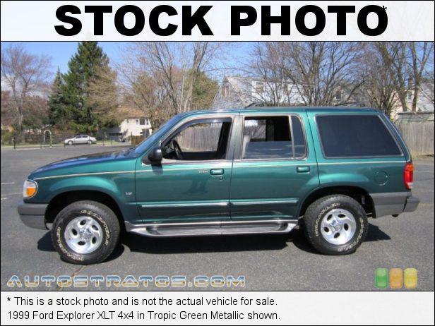 Stock photo for this 1999 Ford Explorer XLT 4x4 5.0 Liter OHV 16-Valve V8 4 Speed Automatic