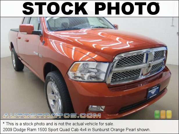 Stock photo for this 2009 Dodge Ram 1500 Quad Cab 4x4 5.7 Liter HEMI OHV 16-Valve VVT MDS V8 5 Speed Automatic