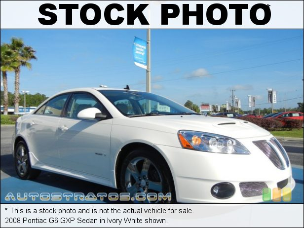 Stock photo for this 2008 Pontiac G6 GXP Sedan 3.6 Liter GXP DOHC 24-Valve VVT V6 6 Speed Automatic