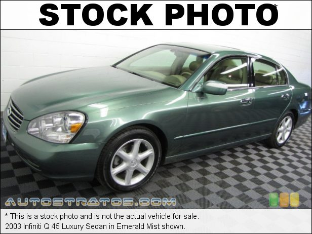 Stock photo for this 2003 Infiniti Q 45 Luxury Sedan 4.5 Liter DOHC 32-Valve V8 5 Speed Automatic