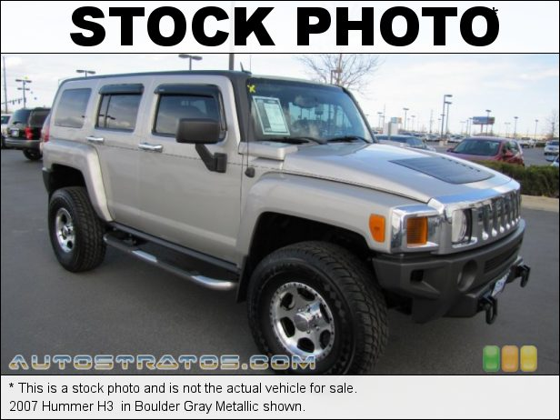 Stock photo for this 2007 Hummer H3  3.7 Liter DOHC 20-Valve Inline 5 Cylinder 4 Speed Automatic