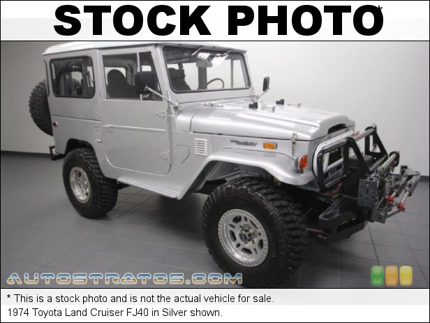 Stock photo for this 1974 Toyota Land Cruiser FJ40 GMC Vortec V8 Automatic