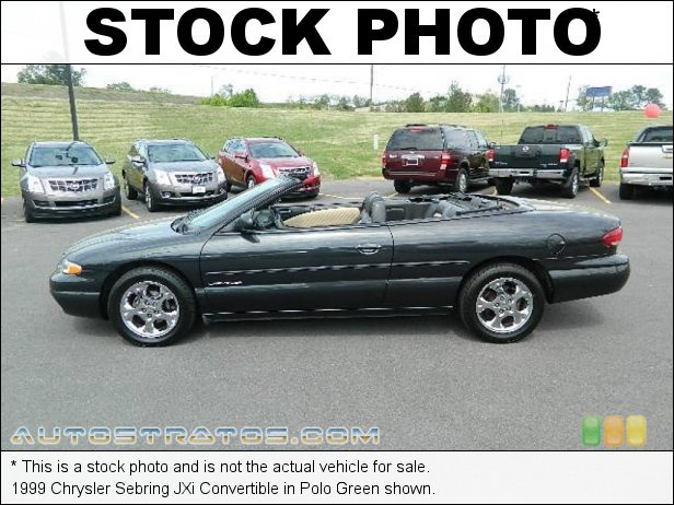 Stock photo for this 1999 Chrysler Sebring JXi Convertible 2.5 Liter SOHC 24-Valve V6 4 Speed Automatic