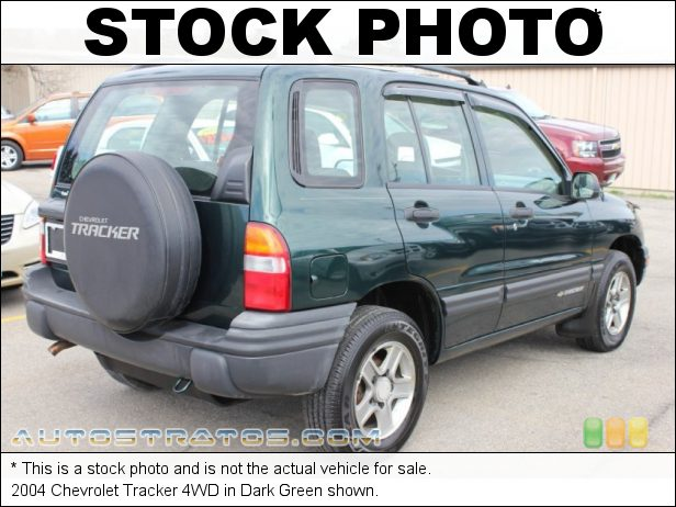 Stock photo for this 2004 Chevrolet Tracker 4WD 2.5 Liter DOHC 24-Valve V6 4 Speed Automatic