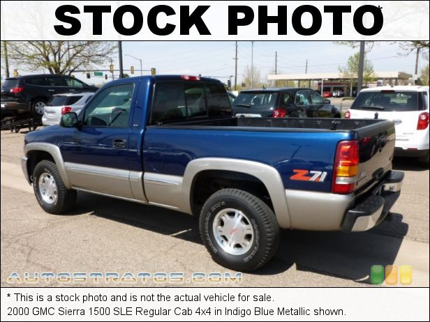 Stock photo for this 2000 GMC Sierra 1500 SLE Regular Cab 4x4 5.3 Liter OHV 16-Valve Vortec V8 4 Speed Automatic