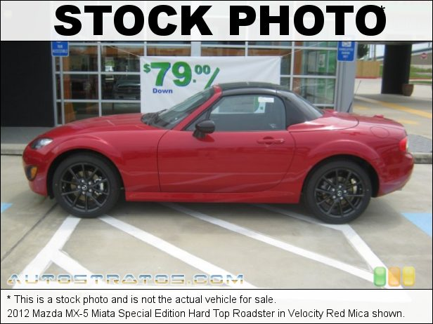 Stock photo for this 2012 Mazda MX-5 Miata Special Edition Hard Top Roadster 2.0 Liter DOHC 16-Valve VVT 4 Cylinder 6 Speed Sport Automatic