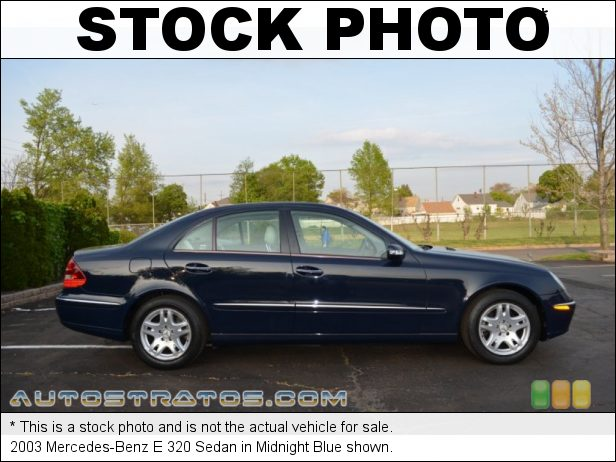 Stock photo for this 2003 Mercedes-Benz E 320 Sedan 3.2 Liter SOHC 18-Valve V6 5 Speed Automatic