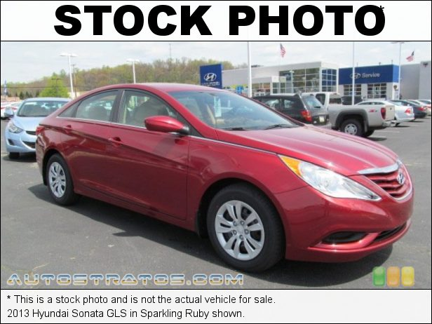 Stock photo for this 2013 Hyundai Sonata GLS 2.4 Liter DOHC 16-Valve D-CVVT 4 Cylinder 6 Speed Shiftronic Automatic