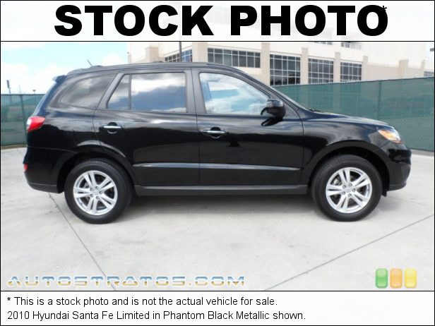 Stock photo for this 2010 Hyundai Santa Fe Limited 2.4 Liter DOHC 16-Valve VVT 4 Cylinder 6 Speed Shiftronic Automatic