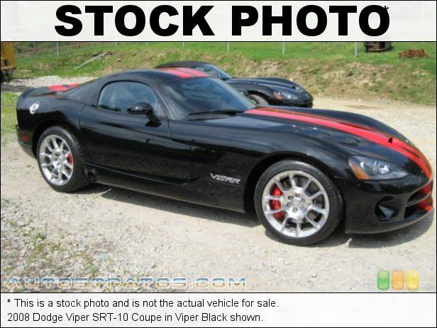 Stock photo for this 2008 Dodge Viper SRT-10 Coupe 8.4 Liter OHV 20-Valve VVT V10 6 Speed Tremec Manual
