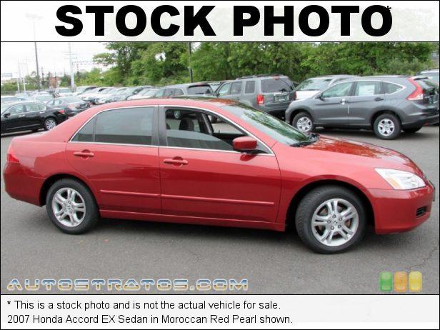 Stock photo for this 2007 Honda Accord EX Sedan 2.4L DOHC 16V i-VTEC 4 Cylinder 5 Speed Automatic