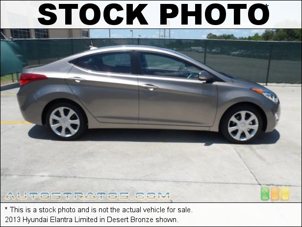 Stock photo for this 2013 Hyundai Elantra Limited 1.8 Liter DOHC 16-Valve D-CVVT 4 Cylinder 6 Speed Shiftronic Automatic