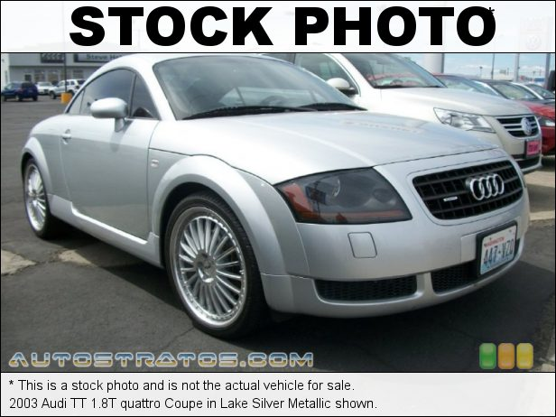 Stock photo for this 2003 Audi TT 1.8T quattro Coupe 1.8 Liter Turbocharged DOHC 20-Valve 4 Cylinder 6 Speed Manual