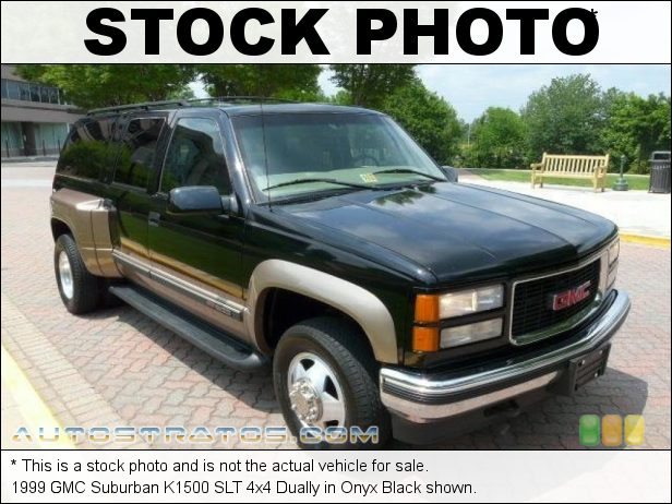 Stock photo for this 1999 GMC Suburban K1500 4x4 5.7 Liter OHV 16-Valve V8 4 Speed Automatic