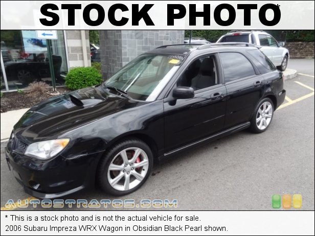 Stock photo for this 2006 Subaru Impreza WRX Wagon 2.5 Liter Turbocharged DOHC 16-Valve VVT Flat 4 Cylinder 5 Speed Manual