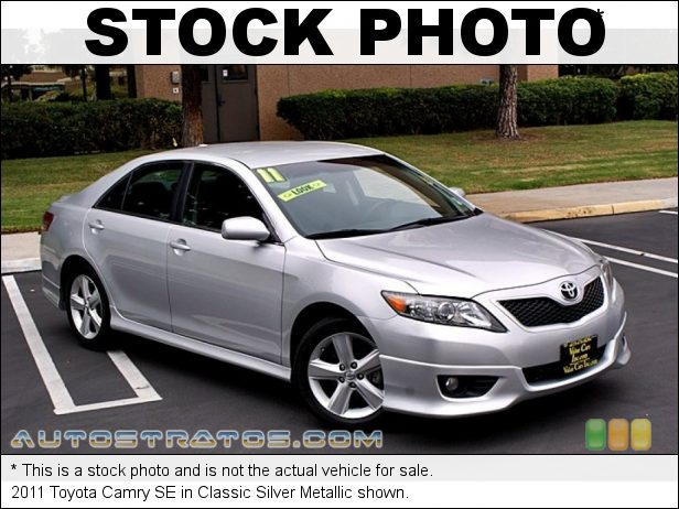 Stock photo for this 2011 Toyota Camry SE 2.5 Liter DOHC 16-Valve Dual VVT-i 4 Cylinder 6 Speed ECT-i Automatic