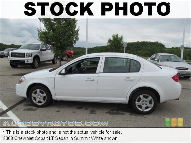 Stock photo for this 2008 Chevrolet Cobalt LT Sedan 2.2 Liter DOHC 16-Valve 4 Cylinder 5 Speed Manual