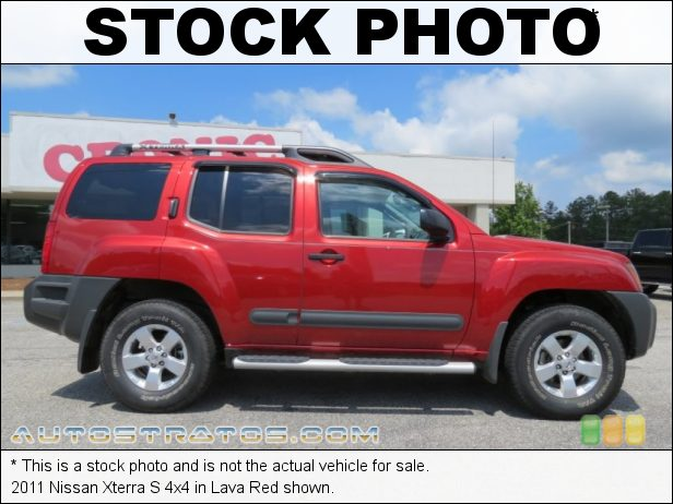 Stock photo for this 2011 Nissan Xterra 4x4 4.0 Liter DOHC 24-Valve CVTCS V6 5 Speed Automatic