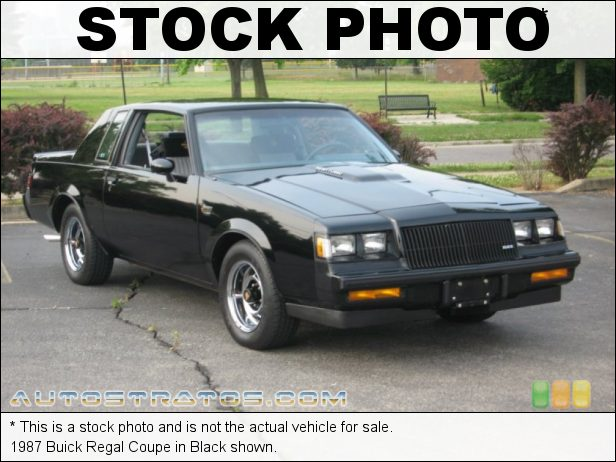 Stock photo for this 1987 Buick Regal  3.8 Liter Turbocharged OHV 12-Valve V6 4 Speed Automatic