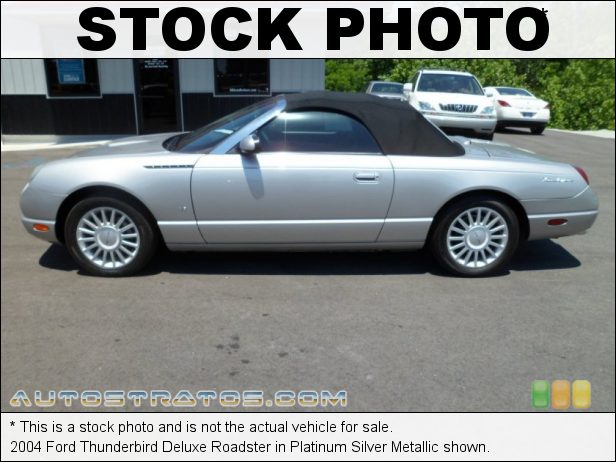 Stock photo for this 2004 Ford Thunderbird Deluxe Roadster 3.9 Liter DOHC 32-Valve V8 5 Speed Automatic