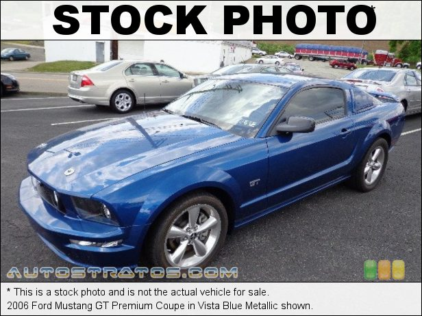 Stock photo for this 2006 Ford Mustang GT Coupe 4.6 Liter Magna Charger Supercharged SOHC 24-Valve VVT V8 5 Speed Manual