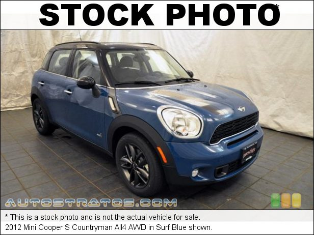 Stock photo for this 2012 Mini Cooper S Countryman All4 AWD 1.6 Liter DI Twin-Scroll Turbocharged DOHC 16-Valve VVT 4 Cylind 6 Speed Manual