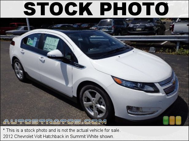Stock photo for this 2012 Chevrolet Volt Hatchback 111 kW Plug-In Electric Motor/1.4 Liter GDI DOHC 16-Valve VVT 4 1 Speed Automatic