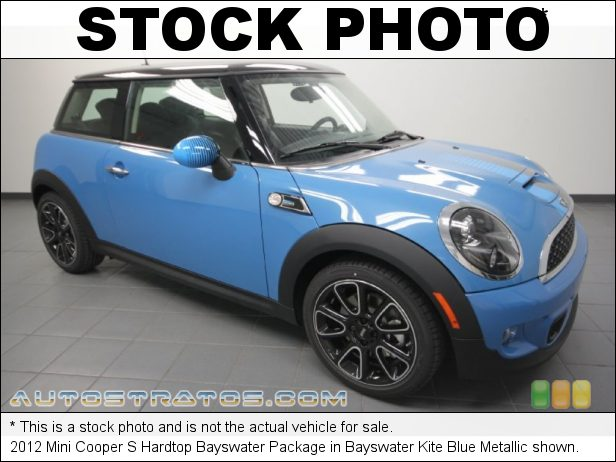Stock photo for this 2012 Mini Cooper S 1.6 Liter DI Twin-Scroll Turbocharged DOHC 16-Valve VVT 4 Cylind 6 Speed Manual