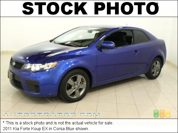Stock photo for this 2011 Kia Forte Koup EX 2.0 Liter DOHC 16-Valve CVVT 4 Cylinder 6 Speed Sportmatic Automatic