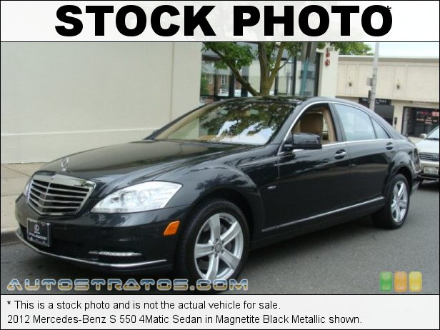 Stock photo for this 2012 Mercedes-Benz S 550 4Matic Sedan 4.6 Liter DI Twin-Turbocharged DOHC 32-Valve VVT V8 7 Speed Automatic