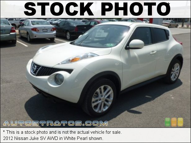 Stock photo for this 2012 Nissan Juke SV AWD 1.6 Liter DIG Turbocharged DOHC 16-Valve CVTCS 4 Cylinder Xtronic CVT Automatic