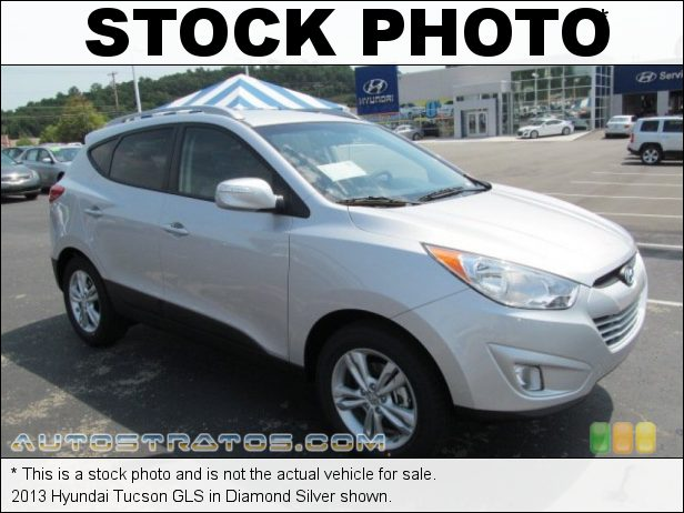 Stock photo for this 2013 Hyundai Tucson GLS 2.4 Liter DOHC 16-Valve CVVT 4 Cylinder 6 Speed SHIFTRONIC Automatic