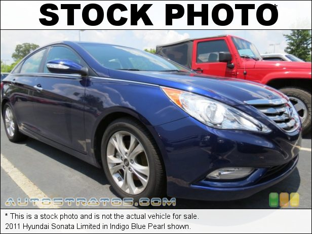 Stock photo for this 2011 Hyundai Sonata Limited 2.4 Liter GDI DOHC 16-Valve CVVT 4 Cylinder 6 Speed Shiftronic Automatic