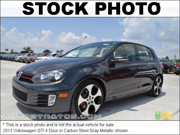 Stock photo for this 2013 Volkswagen GTI 4 Door 2.0 Liter FSI Turbocharged DOHC 16-Valve VVT 4 Cylinder 6 Speed DSG Dual-Clutch Automatic