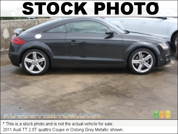 Stock photo for this 2011 Audi TT 2.0T quattro 2.0 Liter TFSI Turbocharged DOHC 16-Valve VVT 4 Cylinder 6 Speed S Tronic Automatic