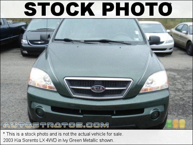 Stock photo for this 2003 Kia Sorento LX 4WD 3.5 Liter DOHC 24 Valve V6 4 Speed Automatic