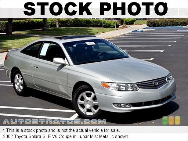 Stock photo for this 2003 Toyota Solara SLE V6 Coupe 3.0 Liter DOHC 24-Valve V6 4 Speed Automatic