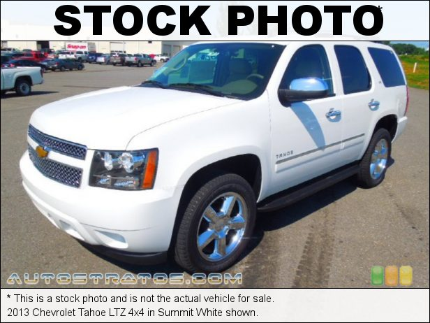 Stock photo for this 2013 Chevrolet Tahoe LTZ 4x4 5.3 Liter OHV 16-Valve Flex-Fuel V8 6 Speed Automatic