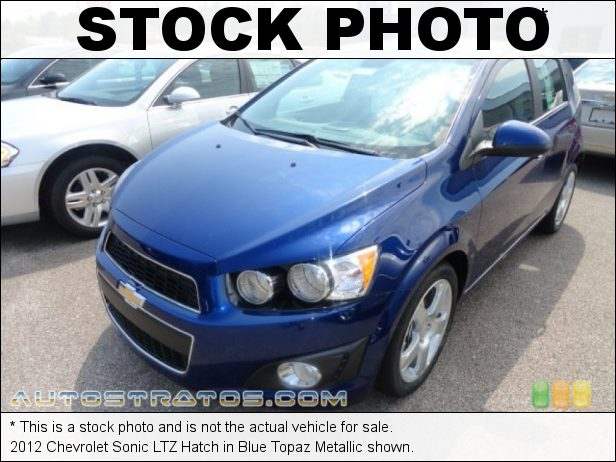 Stock photo for this 2012 Chevrolet Sonic Hatch 1.8 Liter DOHC 16-Valve VVT 4 Cylinder 6 Speed Automatic