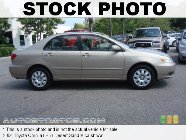 Stock photo for this 2004 Toyota Corolla LE 1.8 Liter DOHC 16-Valve VVT-i 4 Cylinder 4 Speed Automatic