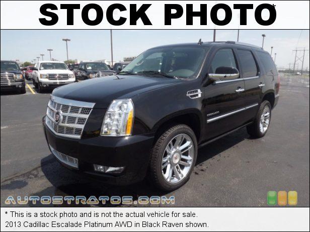 Stock photo for this 2013 Cadillac Escalade Platinum AWD 6.2 Liter Flex-Fuel OHV 16-Valve VVT Vortec V8 6 Speed Automatic