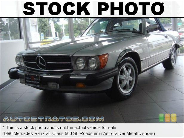 Stock photo for this 1986 Mercedes-Benz SL Class 560 SL Roadster 5.6 Liter SOHC 16-Valve V8 4 Speed Automatic
